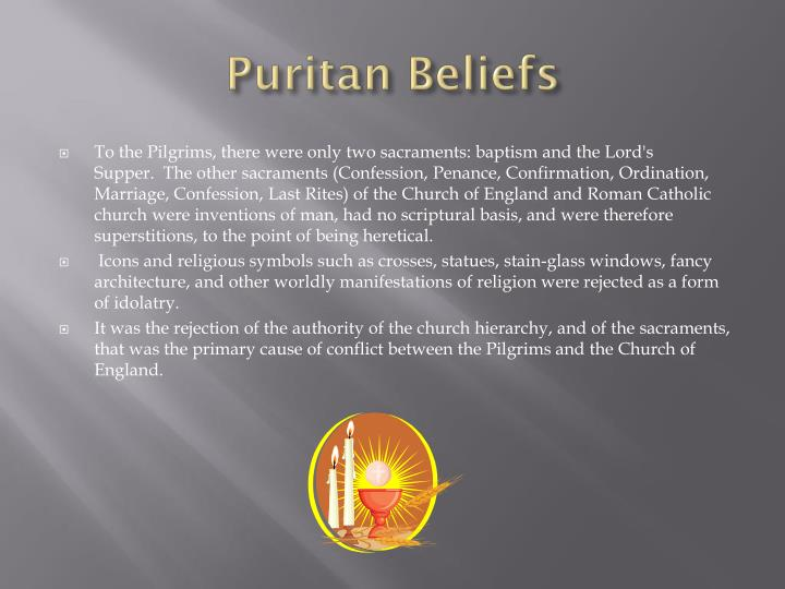 puritan beliefs The role of the puritans in the history of the united states of america.