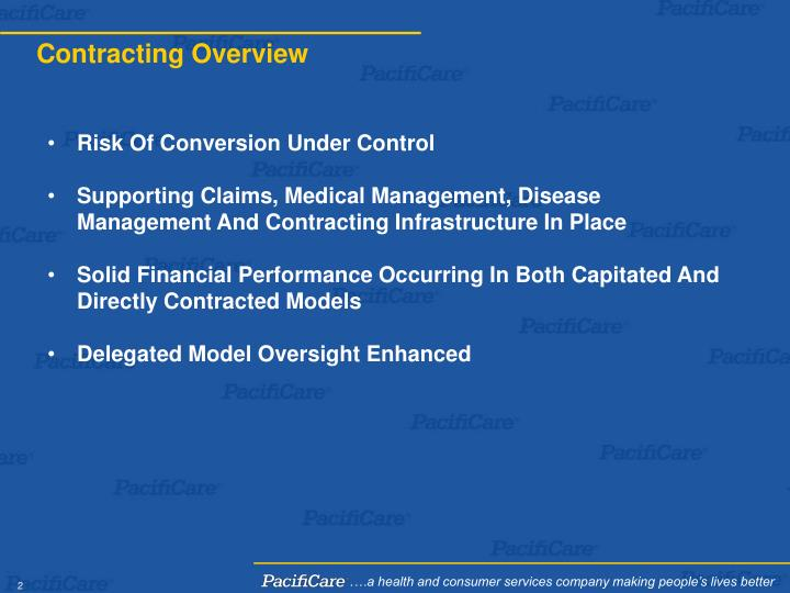Contracting overview