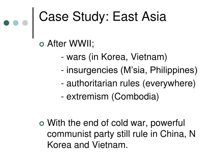 Case Study: East Asia