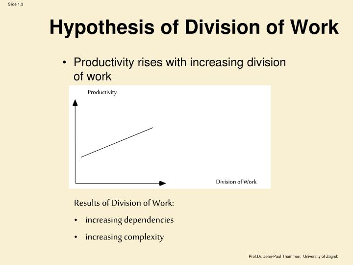 Hypothesis of Division of Work