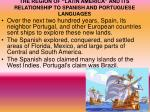 the region of latin america and its relationship to spanish and portuguese languages1