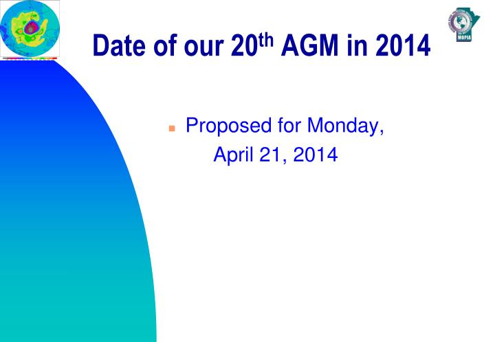 date of agm
