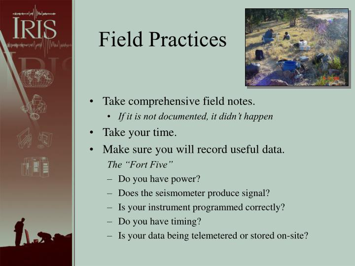 Field Practices