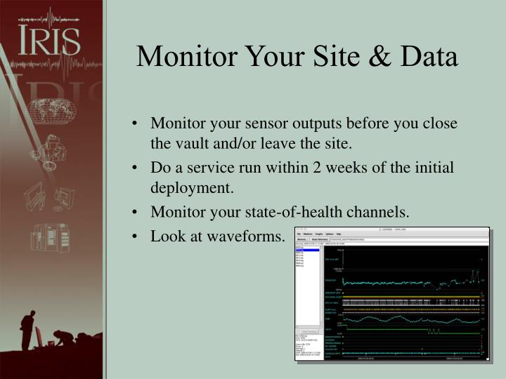 Monitor Your Site & Data