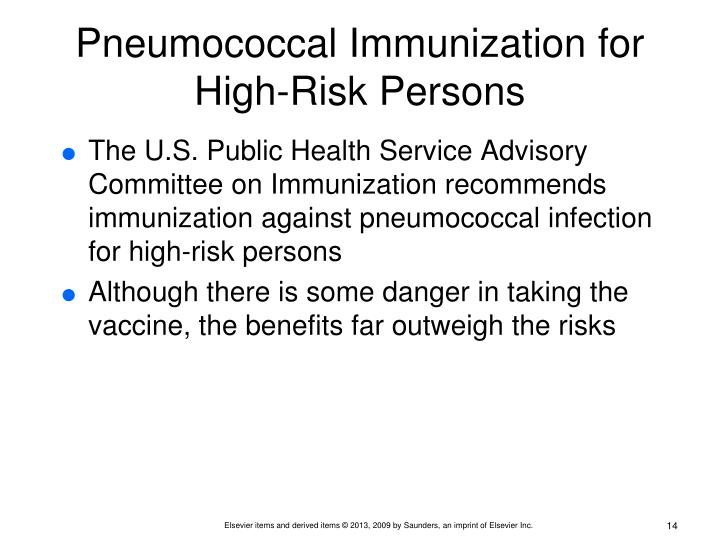Pneumococcal Immunization for High-Risk Persons