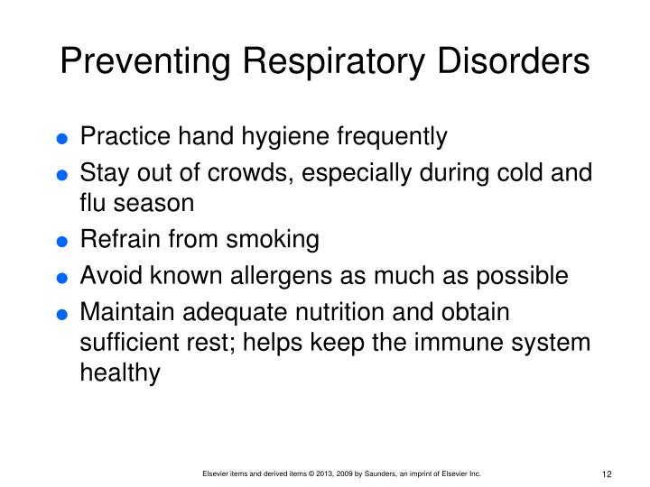 Preventing Respiratory Disorders