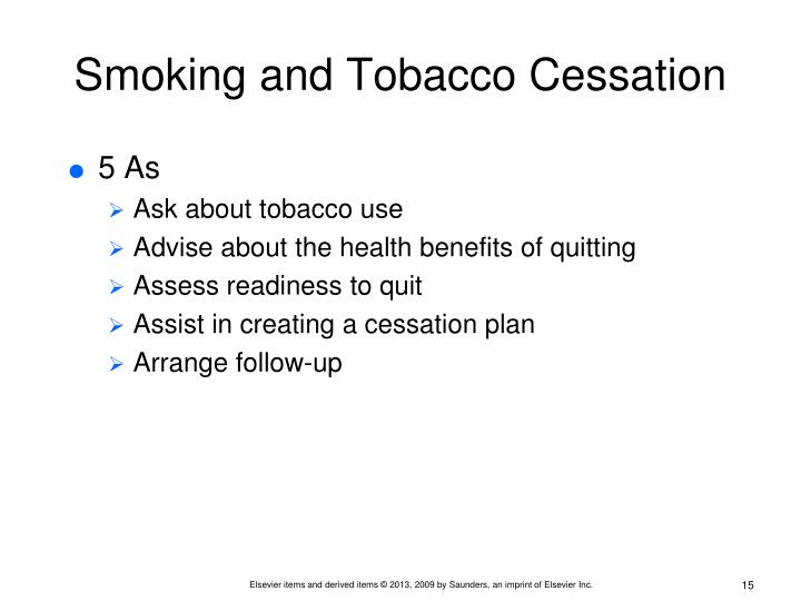 Smoking and Tobacco Cessation