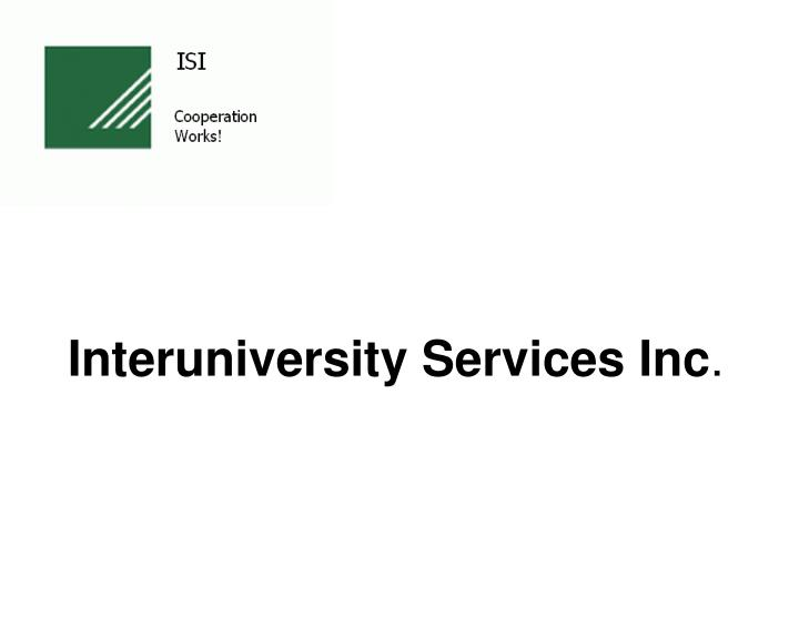 Interuniversity Services Inc