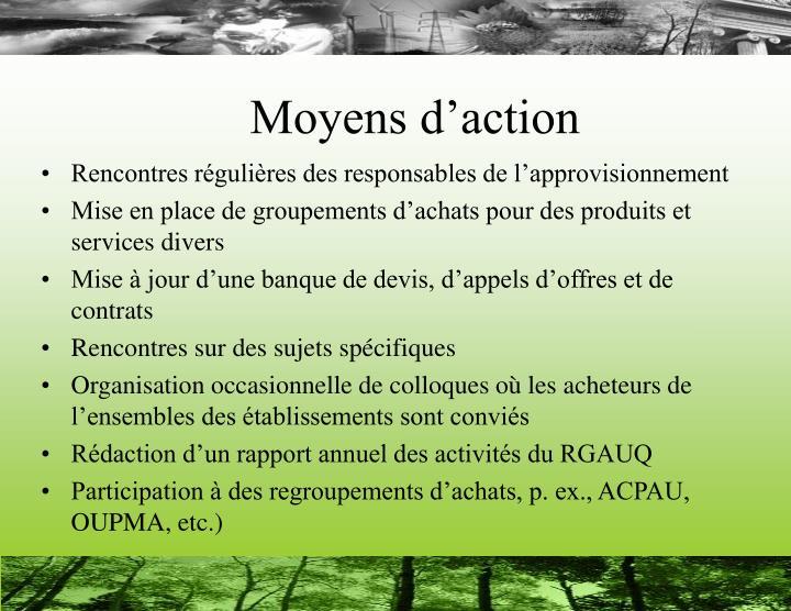 Moyens d'action