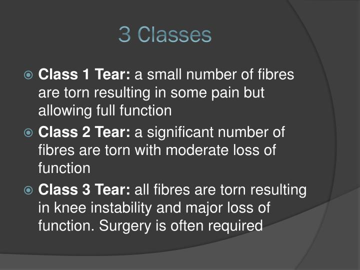 3 Classes
