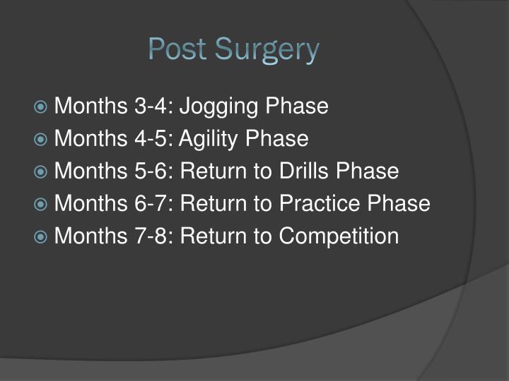 Post Surgery