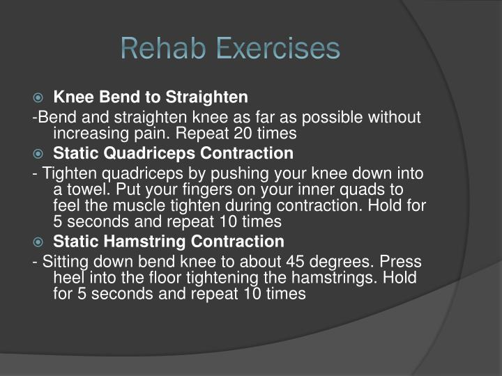 Rehab Exercises