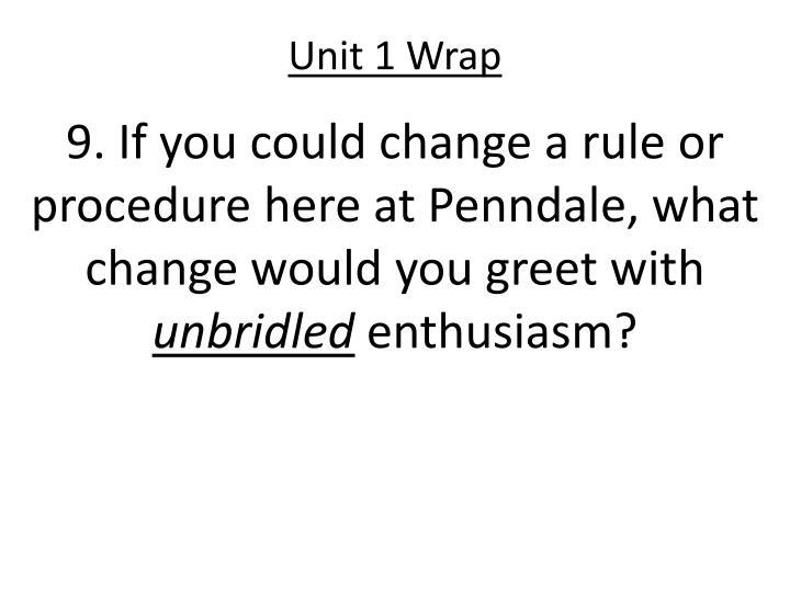 Unit 1 Wrap