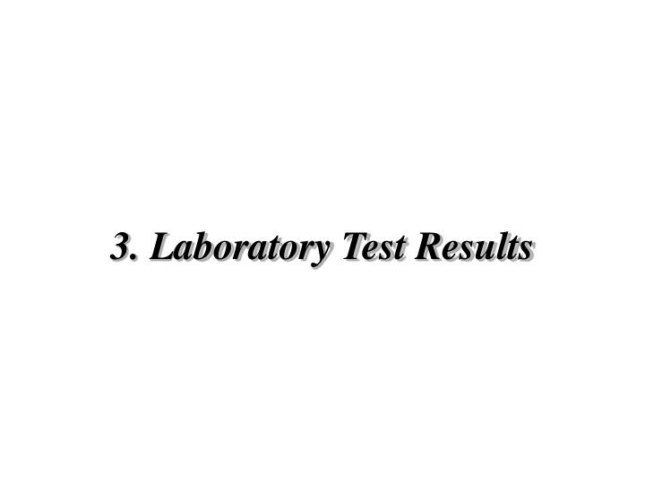 3 laboratory test results