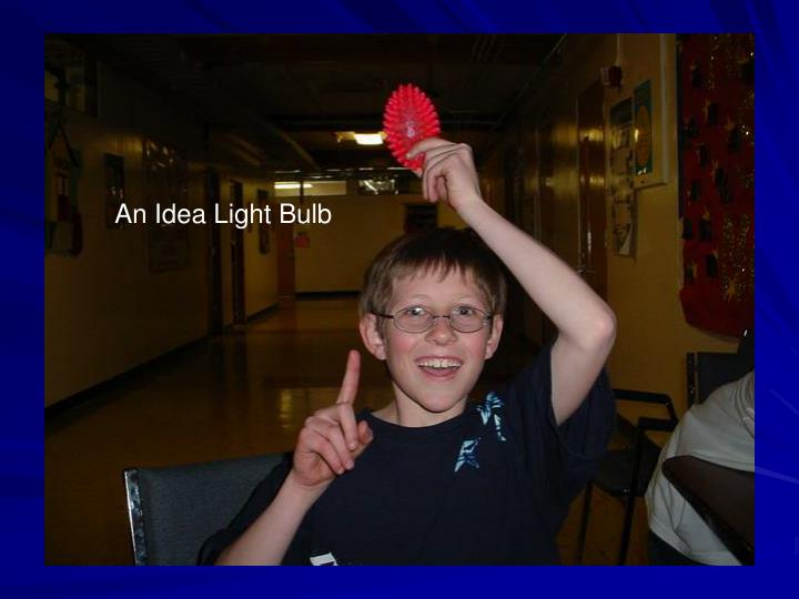 An Idea Light Bulb