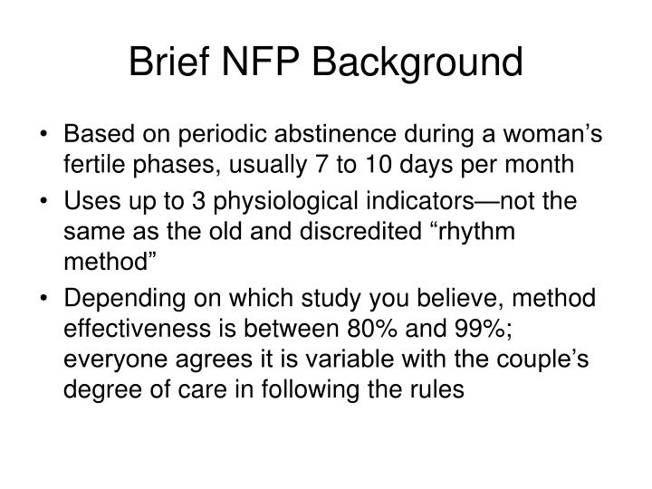 Brief nfp background