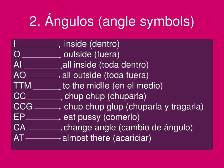 2. Ángulos (angle symbols)