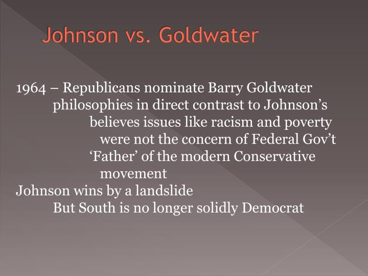 Johnson vs. Goldwater