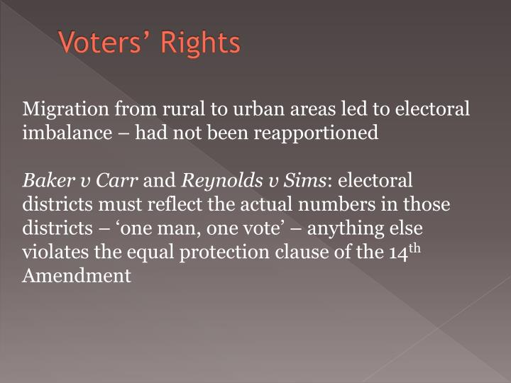 Voters' Rights