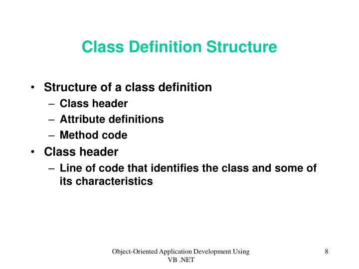 Class Definition Structure