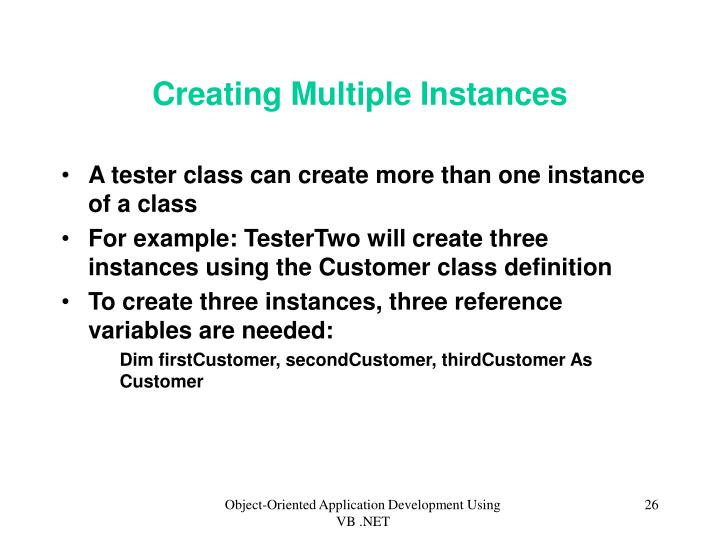 Creating Multiple Instances