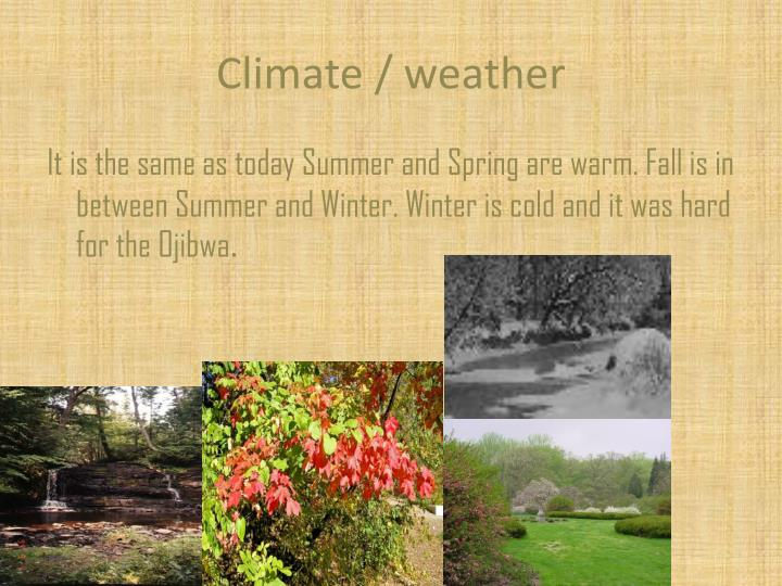 Climate / weather