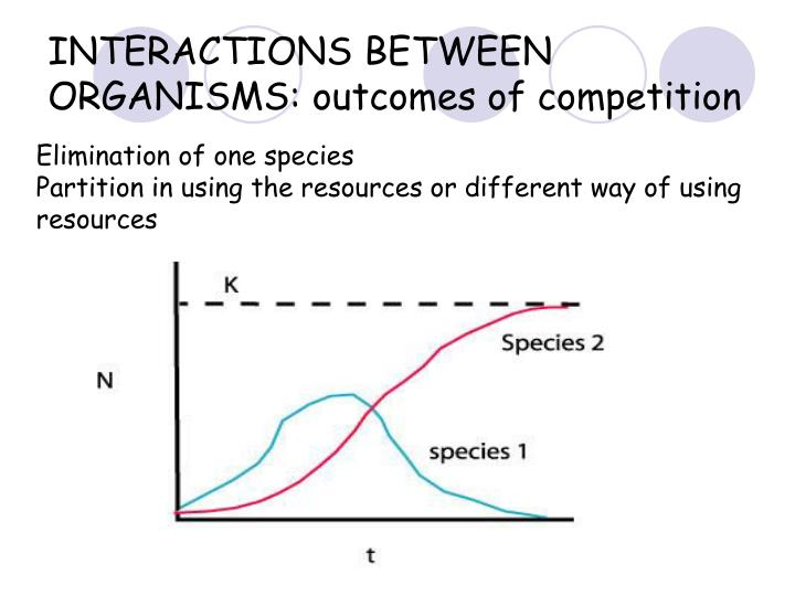 INTERACTIONS BETWEEN ORGANISMS: outcomes of competition