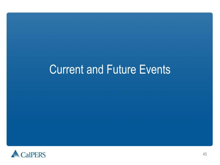 Current and Future Events