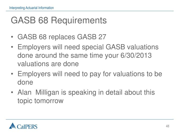 GASB 68 Requirements