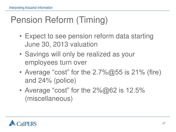 Pension Reform (Timing)