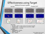 effectiveness using target without firmware update