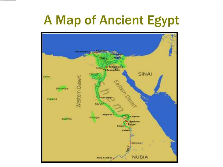 A Map of Ancient Egypt