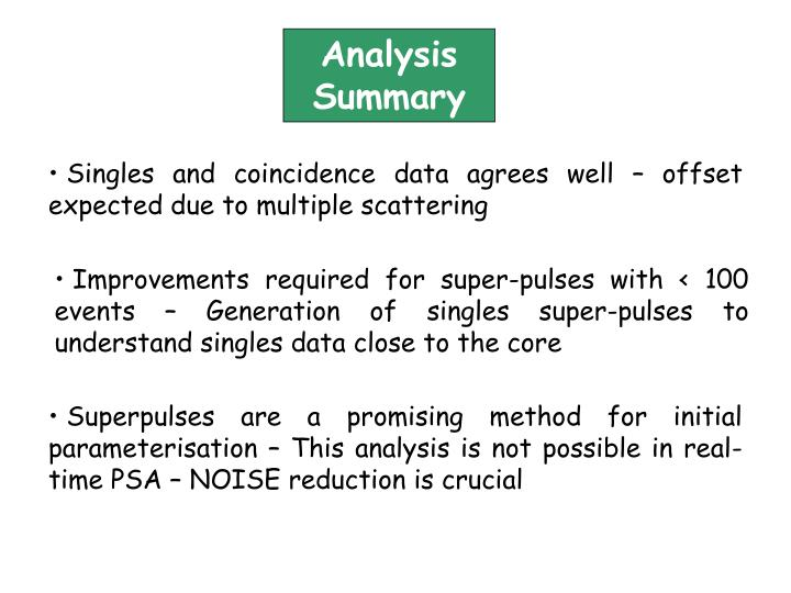 Analysis Summary