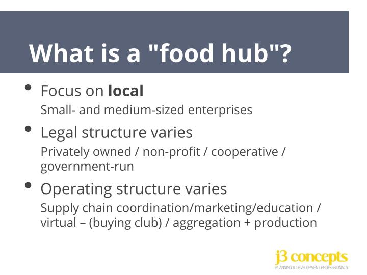"What is a ""food hub""?"