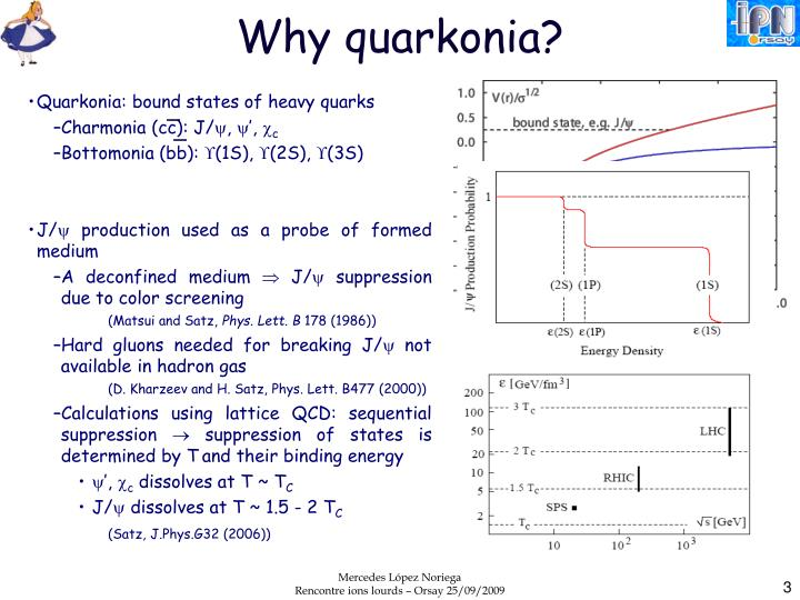 Why quarkonia