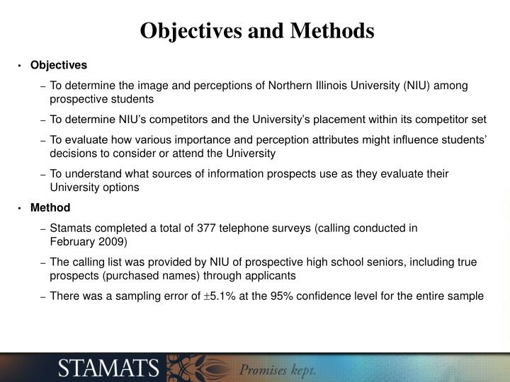 Objectives and Methods