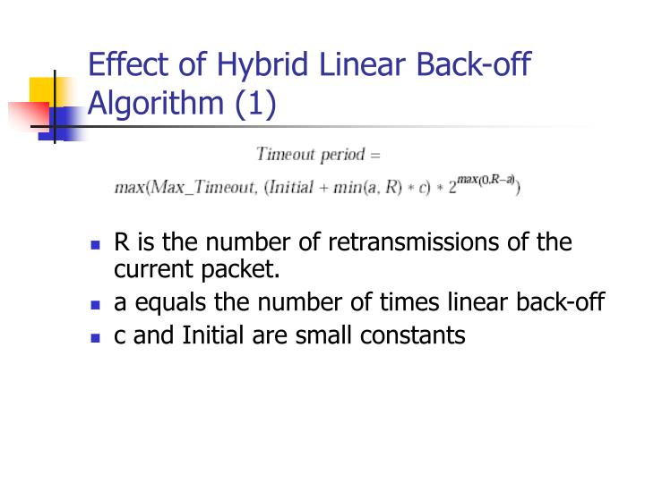 Effect of Hybrid Linear Back-off   Algorithm (1)