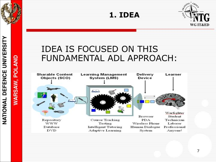 IDEA IS FOCUSED ON THIS FUNDAMENTAL ADL APPROACH: