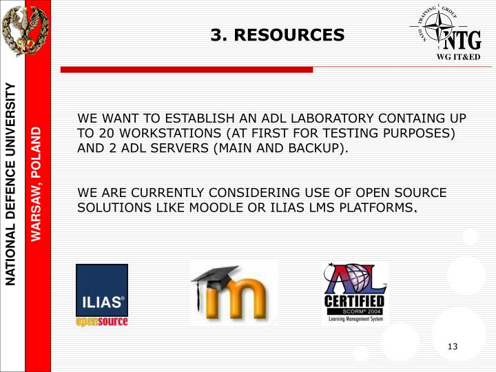 3. RESOURCES