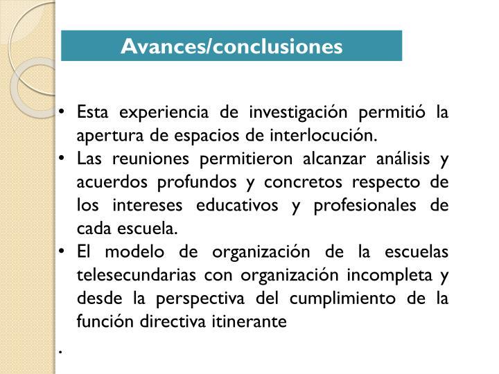 Esta experiencia de investigación permitió la apertura de espacios de interlocución.