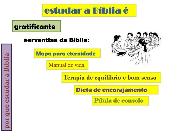 estudar a Bíblia é