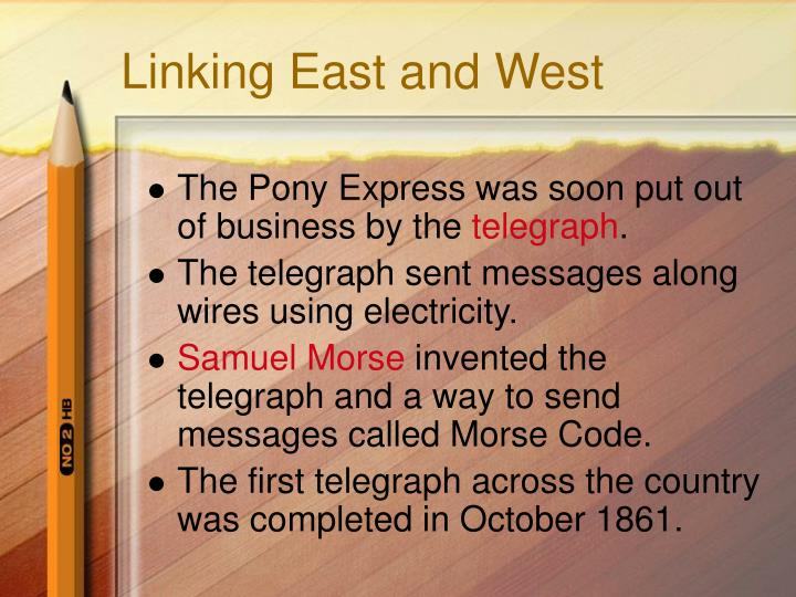 Linking East and West