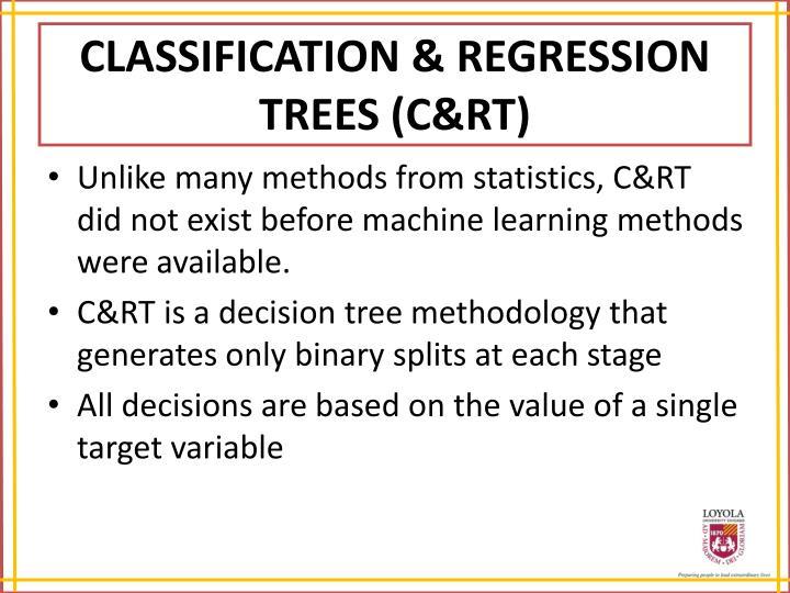 CLASSIFICATION & REGRESSION TREES (C&RT)