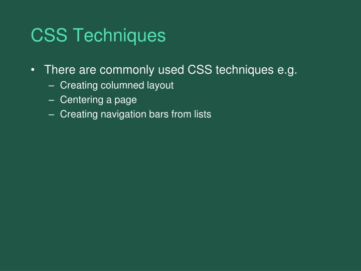 CSS Techniques