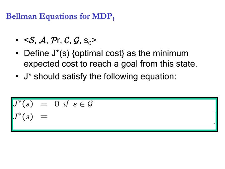 Bellman Equations for MDP
