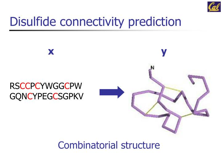 Disulfide connectivity prediction