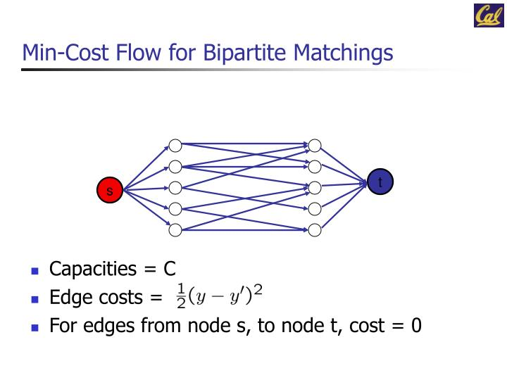 Min-Cost Flow for Bipartite Matchings