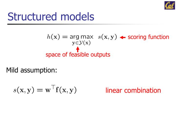 Structured models