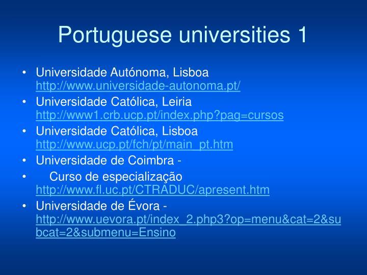 Portuguese universities 1