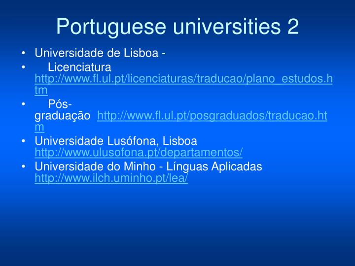 Portuguese universities 2